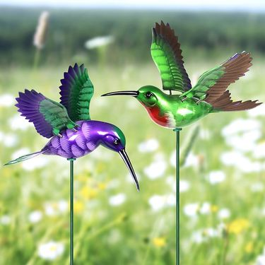 Windy Wings Hummingbird Plant Stakes (Set of 6) - Click to enlarge