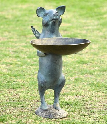 Winged Pig Bird Feeder - Click to enlarge