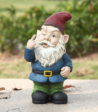 Winking Middle Finger Gnome - Click to enlarge