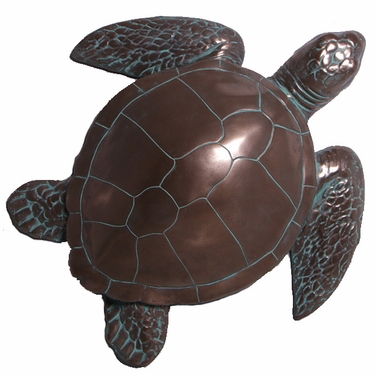 Bronze Finish Sea Turtle Wall Decor - Click to enlarge