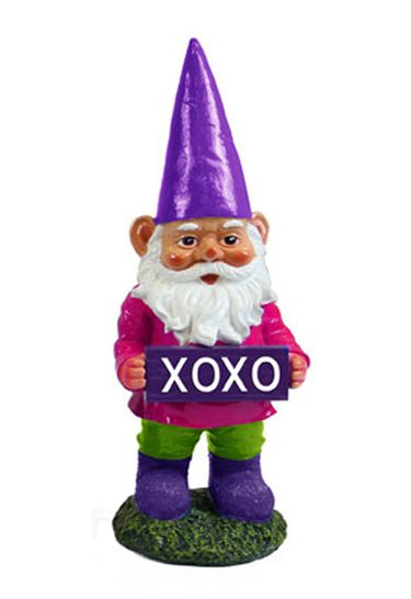 XOXO Gnome Garden Statue - Click to enlarge