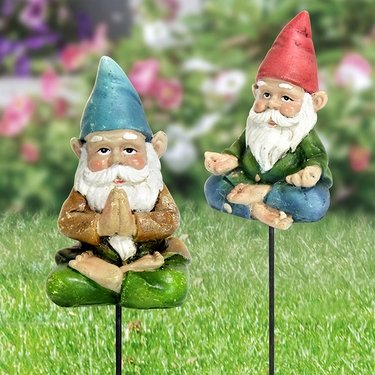 Yoga Gnome Pot Stakes (Set of 3) - Click to enlarge