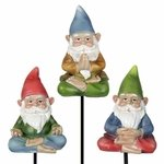 Yoga Gnome Pot Stakes (Set of 3)
