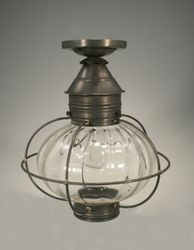 "12"" Caged Onion Flush Mount Light Fixture with Four Glass Options <font color=a8bb25> Sold Out</font>"