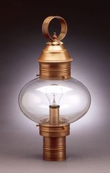 "10"" Onion Light Fixture for Post - No Cage <font color=a8bb25> Sold Out</font>"