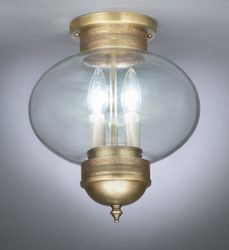 "10"" Round Onion Flush Mount Light Fixture <font color=a8bb25> Sold Out</font>"