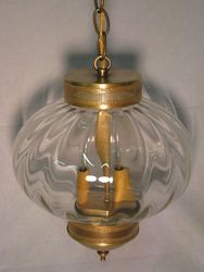 "10"" Round Onion Hanging Light Fixture with Galley <font color=a8bb25> Sold Out</font>"