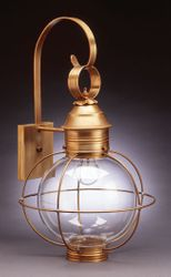 "13"" Round Onion Wall Light Fixture - Caged <font color=a8bb25> Sold Out</font>"