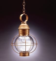 "12"" Round Hanging Onion Lantern <font color=a8bb25> Sold Out</font>"