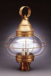 "15"" Round Onion Light Fixture for Post - Caged <font color=a8bb25> Sold Out</font>"