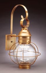"12"" Round Onion Wall Light Fixture-Caged <font color=a8bb25> Sold Out</font>"