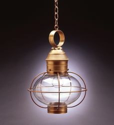 "12"" Onion Hanging Light Fixture Caged <font color=a8bb25> Sold Out</font>"