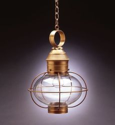 "12"" Onion Hanging Light Fixture Caged"