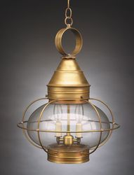 "15"" Onion Hanging Light Fixture - Caged <font color=a8bb25> Sold Out</font>"