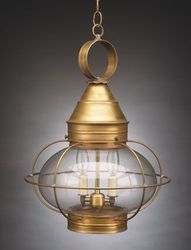 "15"" Onion Hanging Light Fixture - Caged"