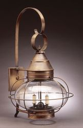 "15"" Onion Wall Light Fixture - Caged"