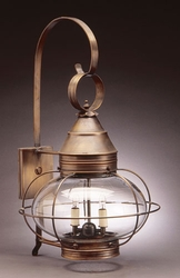 "15"" Onion Wall Light Fixture - Caged <font color=a8bb25> Sold Out</font>"
