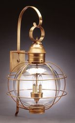 "16"" Round Onion Wall Light Fixture <font color=a8bb25> Sold Out</font>"