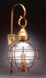 "18"" Round Onion Three-Light Wall Light Fixture <font color=a8bb25> Sold Out</font>"