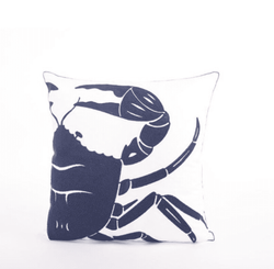 18x18 Embroidered Sea Crab Pillow