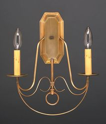 Two-Light Wall Sconce with Fancy Scroll Work