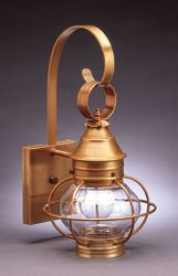 "8"" Onion Wall Light Fixture With Cage  <font color=a8bb25> Sold Out</font>"