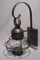 "6"" Optic Globe Onion Wall Light Fixture  <font color=a8bb25> Sold Out</font>"