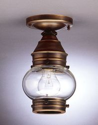 "6"" Onion Flush Mount Light Fixture Without Cage <font color=a8bb25> Sold Out</font>"