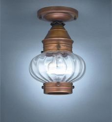 "7"" Onion Flush Mount Light Fixture <font color=a8bb25> Sold Out</font>"