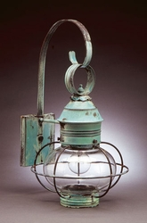 "11"" Onion Wall Light Fixture With Cage <font color=a8bb25> Sold Out</font>"