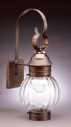 "8"" Optic Round Onion Wall Light Fixture  <font color=a8bb25> Sold Out</font>"