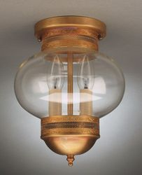 "8"" Onion Flush Mount Light Fixture <font color=a8bb25> Sold Out</font>"