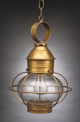 "11"" Onion Hanging Light Fixture - Caged <font color=a8bb25> Sold Out</font>"