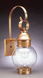 "8"" Round Onion Wall Light Fixture  <font color=a8bb25> Sold Out</font>"