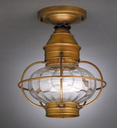 "9"" Onion Flush Mount Caged Light Fixture <font color=a8bb25> Sold Out</font>"
