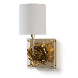 Adeline Gold Sconce  <font color=a8bb35>NEW</font>