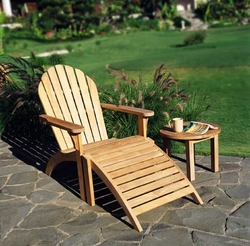 Adirondack Teak Chair and Footstool *Backorder