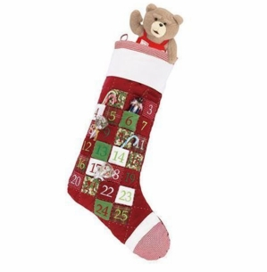 Advent Jumbo Christmas Stocking with Numbered Pockets<font color =a8bb35> Sold out</font>