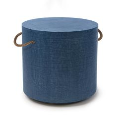 Aegean Round Side Table - Indigo