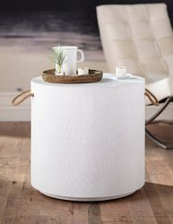 Aegean Round Side Table - White