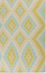Alameda Lime Green/Teal Flat Weave Rug *Low Stock