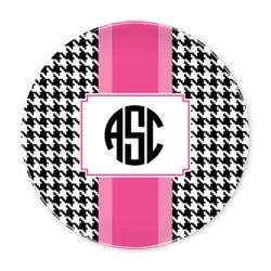 Alex Houndstooth Black Plates- Set of Four