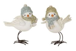 Alpine Holiday Birds with Hats Set of 4