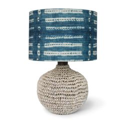 Amelia Blue Coastal Table Lamp <font color=a8bb35> NEW</font>