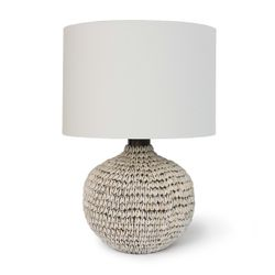 Amelia White Coastal Table Lamp <font color=a8bb35> NEW</font>