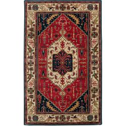Ancient Treasures Red and Blue Hand Tufted Rug <font color=a8bb35> NEW</font>