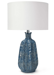 Antigua Blue Ceramic Table Lamp <font color=a8bb35> NEW</font>