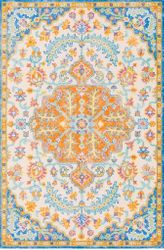 Antigua Bright Blue Hand Tufted Rug <font color=a8bb35> NEW</font>