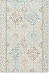 Antigua Pale Blue Hand Tufted Rug <font color=a8bb35> NEW</font>