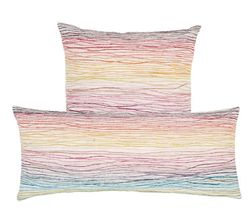 Aquarelle Embroidered Decorative Pillow